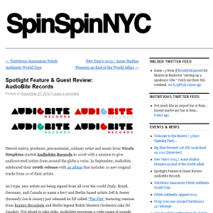 SpinSpinNYC Spotlight Feature and Guest Review